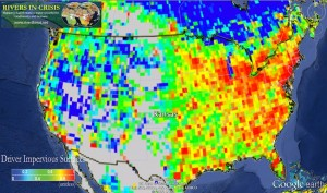 Impervious surfaces in the U.S. Source: Rivers in Crisis, riverthreat.net