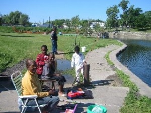Fishing in KCK park