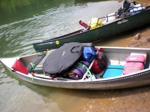Packed Canoe