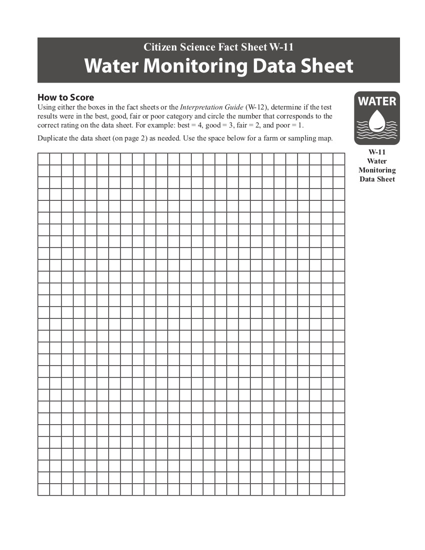 W-11 data sheet cover