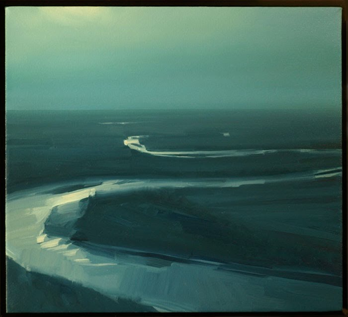 """Kansas River - Moonlight"" © 2008 20 x 22 in., oil on canvas"