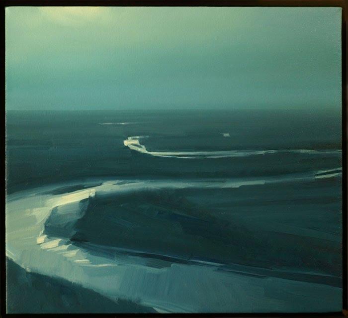 """Kansas River - Moonlight"" © 2008 20 x 22 in., oil on canvas"